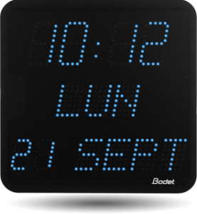 bodet time horloge led avec heures minutes et date pour salle de r union. Black Bedroom Furniture Sets. Home Design Ideas