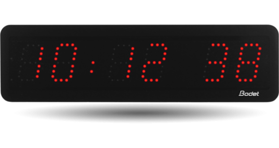 bodet time horloge led avec heures minutes secondes pour petite salle. Black Bedroom Furniture Sets. Home Design Ideas